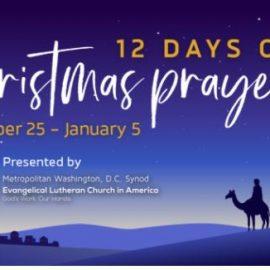 12 Days of Christmas Prayers:  December 25 – January 5