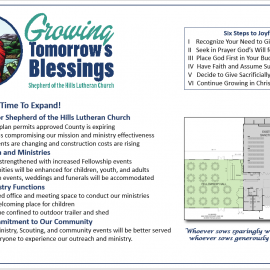 Building Expansion: Growing Tomorrow's Blessings Details
