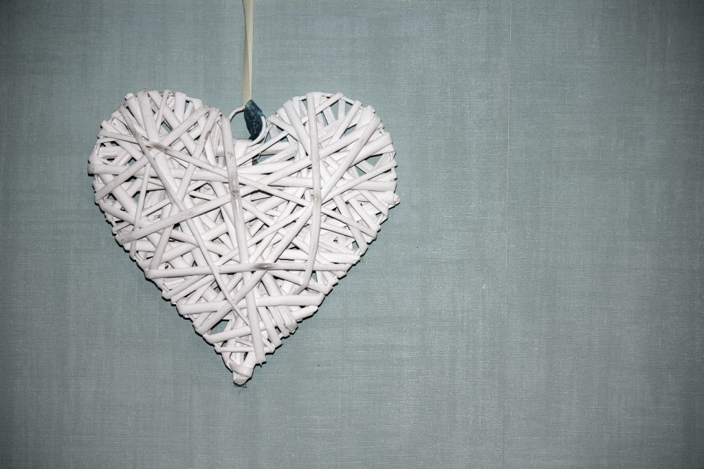 Picture of hand crafted heart ornament