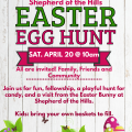 Easter Egg Hunt Saturday, April 20, 2019 at 10 am!