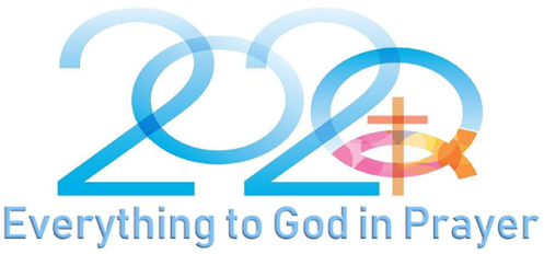 Logo 2020 with Cross Everything to God in Prayer